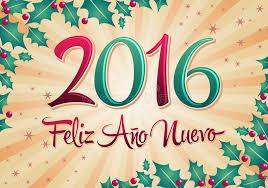 imagenes feliz año nuevo 2016 2016 feliz ano nuevo happy new year spanish text stock vector