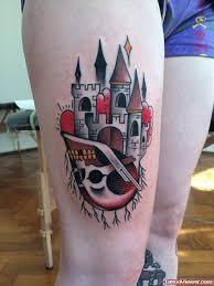 castle and graveyard scene tattoo tattoo viewer com