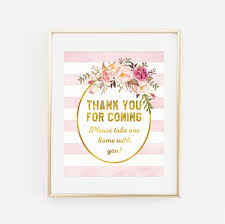 baby shower sign printable baby shower sign thank you for coming take