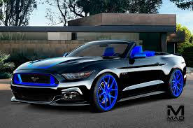 black mustang eight modified 2016 ford mustangs heading to sema motor trend