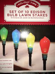 set of 10 edison bulb lawn stakes bulb pathway lights