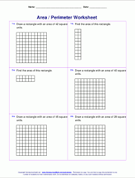area and perimeter worksheets math drills intrepidpath image