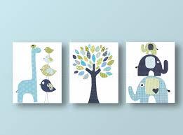 Navy And Green Nursery Decor Baby Boy Nursery Decor Giraffe Home Décor Nursery Elephant Nursery
