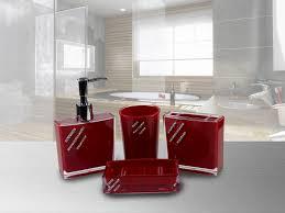 badezimmer garnitur set tlg badezimmer set rot