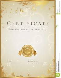 gold certificate diploma award template pattern royalty free