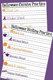 halloween cursive handwriting practice worksheets a mom u0027s take
