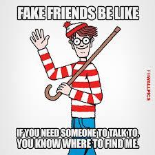 Waldo Meme - fake friends waldo meme facebook wall pic fbwallpics com