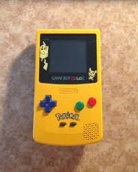 Amazon Com Game Boy Color Limited Pokemon Edition Yellow Gameboy Color