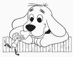 coloring page of a big dog clifford the big red dog coloring pages faba me