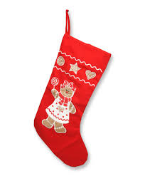 18 inch red gingerbread christmas stocking tree classics