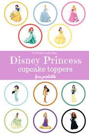 disney princess cupcake toppers 27 100daysofdisney the purple