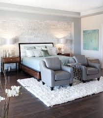 White Contemporary Bedroom Wall Bedrooms Split Faced Marble Accent For The Contemporary