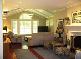 great room additions family room modern with blue ceiling