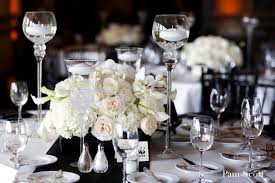black and white centerpieces white wedding ivory centerpiece