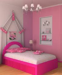 Pink Wall Decor by Bedroom Pink Girls Theme With Cozy Bed Designed Inspirations Small