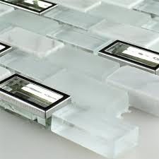 mirror glass marble mosaic tiles white cyan mix sh78173m