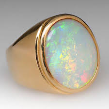 opal stones rings images 22k yellow gold natural ethiopian opal gem stone men 39 s ring ebay jpg