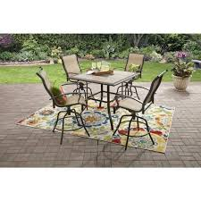 Patio Furniture Counter Height Table Sets Mainstays Wesley Creek 5 Counter Height Dining Set