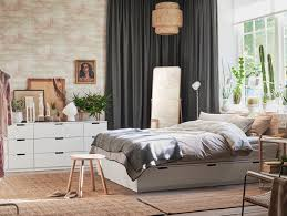 chambre lit textiles et tapis de chambre ikea