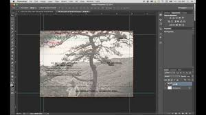 how use a modern postcard template with adobe photoshop youtube