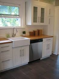 ikea farmhouse sink single bowl grimslov and lansa with blond butcher block counter our house is a