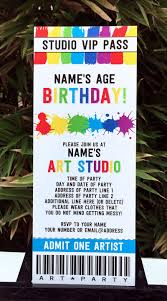 free rainbow birthday invitations art birthday party theme printables paint party
