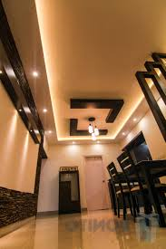 wooden false ceiling of living room home combo