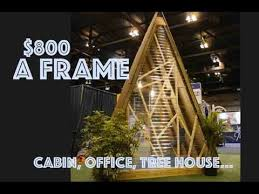 a frame cabin plans free simple a frame cabin for 800 backyard office tree house