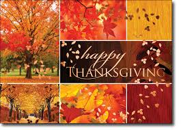 fall foliage collage thanksgiving card