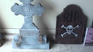 how to make fake tombstones for halloween how to making store bought tombstones better youtube