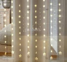 cheap warm white five pointed curtain light led light string