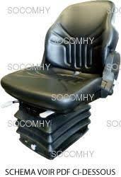 siege pneumatique tracteur agricole siège grammer compacto comfort wide pour tracteur pvc pneumatique large