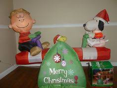 peanuts airblown inflatables christmas airblown peanuts brown snoopy with