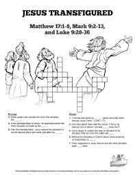 matthew 17 the transfiguration sunday crossword puzzles