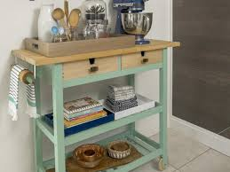 Wheeled Kitchen Island How To Trick Out A Rolling Kitchen Cart Hgtv