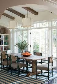 2 pendants over table traditional dining room by peter dunham