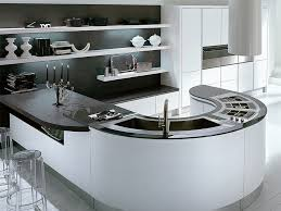kitchen dining curved island makes shape accent contemporary curved kitchen island with shape cook area and breakfast counter end