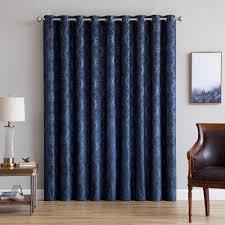 Premium Curtains Warm Home Designs 110 Wide Navy 100 Blackout Patio Door Curtains