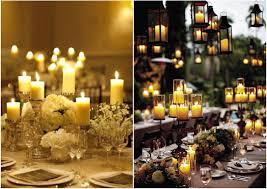 wedding reception decor candles idea is to create wedding