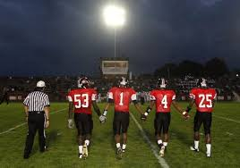 easton area high school football team enjoying a prior