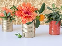 spring diys diy upcycled tin cans turn them into vases