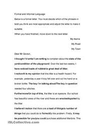 Business Letter Language formal and informal language use in business letters les engels