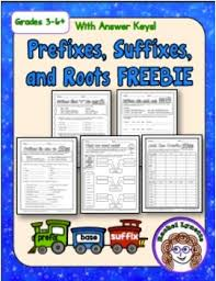 free five suffix prefix and word root worksheets minds in bloom