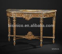 Gold Entry Table French Baroque Style Gold Leaf Console Table Hand Painting Hallway