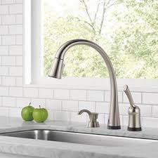 touch2o kitchen faucet shop delta pilar touch2o stainless 1 handle deck mount pull