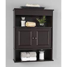 chapter bathroom wall medicine cabinet storage shelf espresso