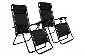 Reclining Patio Chairs Zero Gravity Chairs Case Of 2 Black Lounge Patio Chairs Outdoor