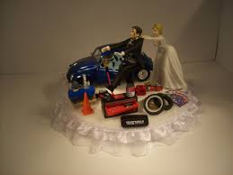 mechanic cake topper auto mechanic running groom 1967 volkswagen classical beetle