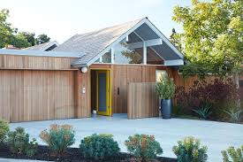 wrapped in wood modern remodel of double gable eichler home