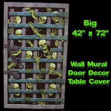 halloween scene setters room rolls giant skull flame fireplace wall decoration halloween haunted